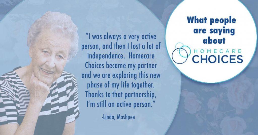 Homecare Choices senior care testimonial